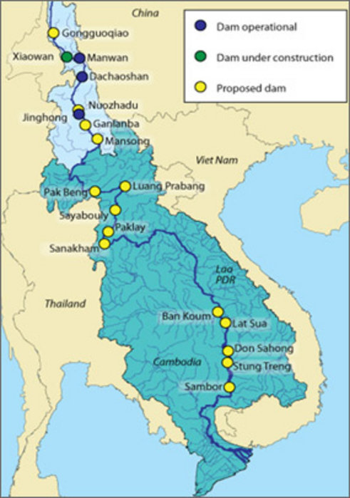 an overview of water dams along mekong river in asia Mdpi — water  the initial conceptual model is elaborated for the lower mekong river basin (lmb) in southeast asia  there were 46 hydropower dams in the mekong.