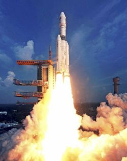 India's 4 tonne payload capability rocket blasts off successfully.